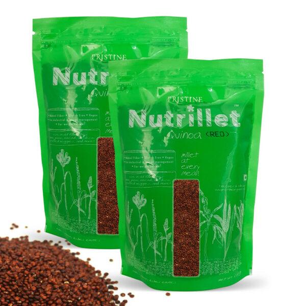 PRISTINE Nutrillet Red Quinoa, 500gm Pack of 2