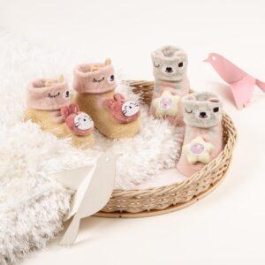 Kicks & Crawl- Kitty and Stars 3D socks (Pack of 2)