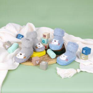 Kicks & Crawl- Happy Feet Blue & Grey Booties - 2 Pack