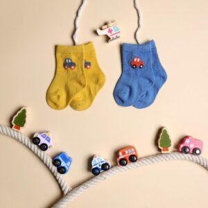 Kicks & Crawl- Hasta La Vista Blue & Yellow Socks - 2 pack