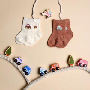 Kicks & Crawl- Hasta La Vista Red & White Socks - 2 Pack