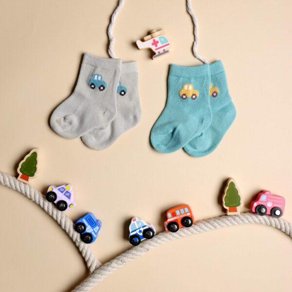 Kicks & Crawl- Hasta La Vista Blue & Grey Socks - 2 Pack