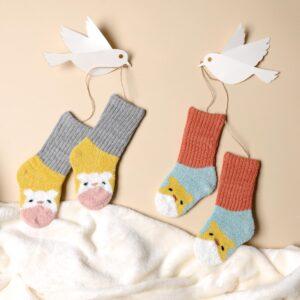 Kicks & Crawl- Happy Hamster Red & Grey Socks - 2 pack