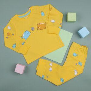 Kicks & Crawl- Playtime Yellow Kitty Nightsuit