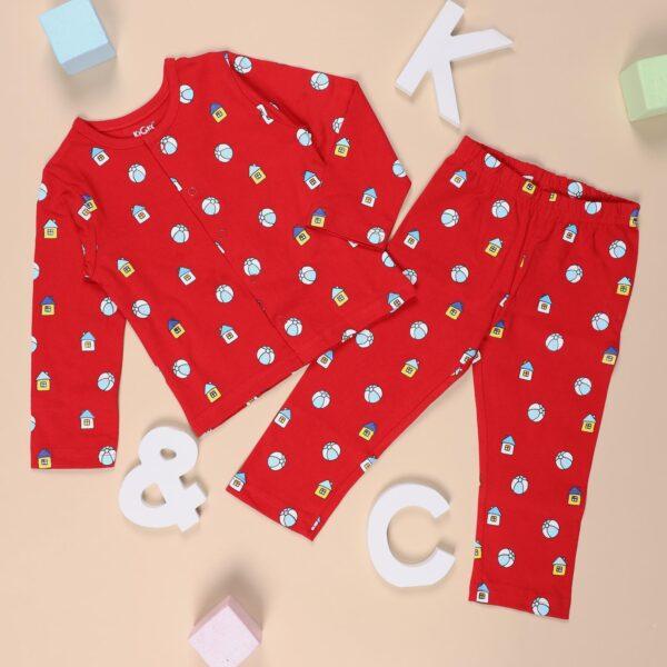 Kicks & Crawl- Baller Baby Nightsuit