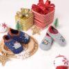 Kicks & Crawl- Snowy Bear Socks - Blue & Grey