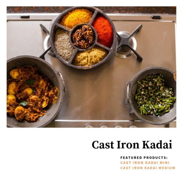 CAST IRON KADAI LARGE -3000 ML