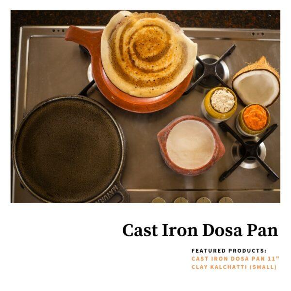 """CAST IRON DOSA PAN - XTRA LARGE 13"""""""