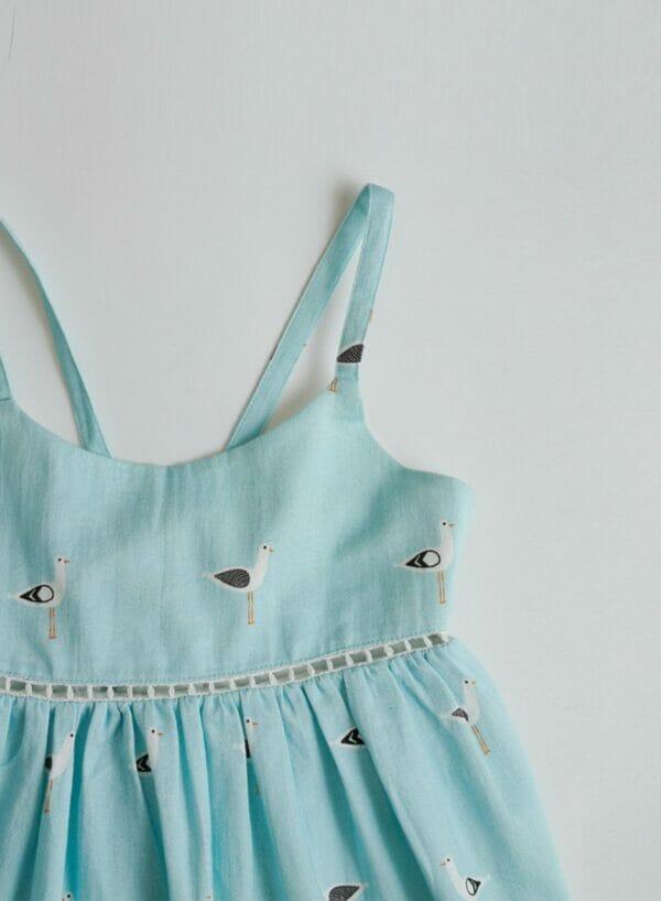Lori Seagull Print Dress